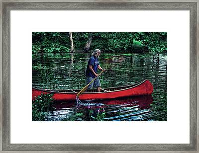A True Adirondack Guide Framed Print by David Patterson