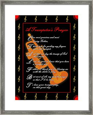 A Trumpeters Prayer_1 Framed Print by Joe Greenidge