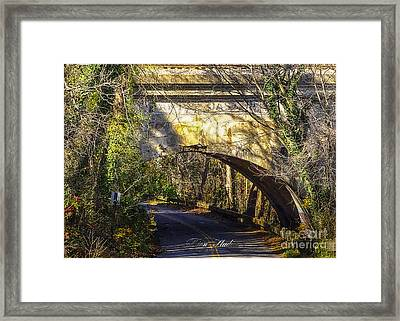 A Tunnel By The River Framed Print by Melissa Messick