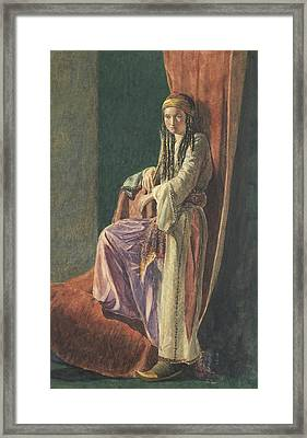 A Turkish Girl Framed Print by George Price Boyce