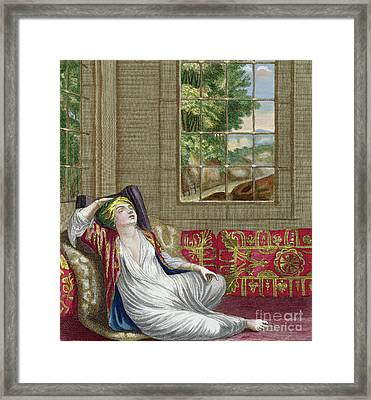 A Turkish Woman Framed Print by Gerard Jean Baptiste Scotin