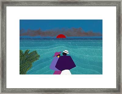 A Turks And Caicos Sunset Framed Print