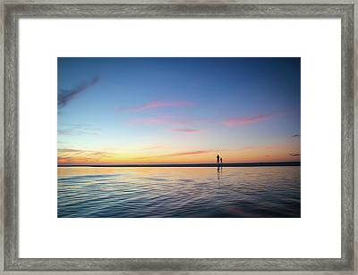 A Twilight Beach Walk Framed Print