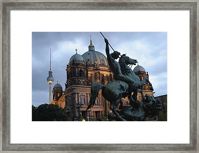 A Twilight View Of The Berlin Cathedral Framed Print by Jim Webb