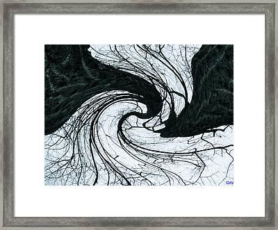 A Twist Of Oak Framed Print by Debra     Vatalaro