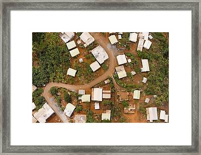 A Typical Indigenous Village Framed Print by Michael Fay