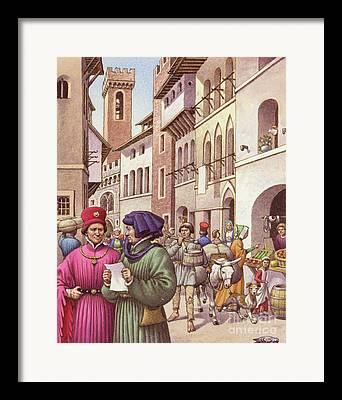 Italian Shopping Paintings Framed Prints