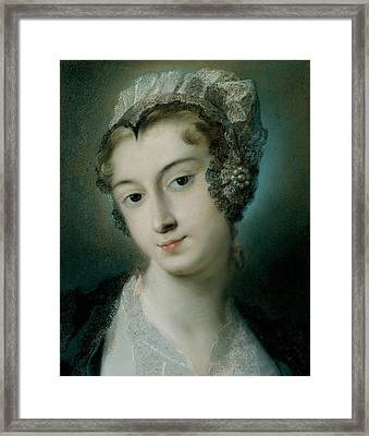 A Tyrolean Innkeeper Framed Print by Rosalba Carriera