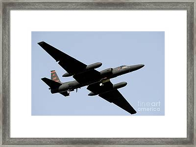 A U-2 Dragon Lady Takes Off From Osan Framed Print by Stocktrek Images