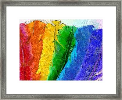 A Unique Rainbow Framed Print by Krissy Katsimbras