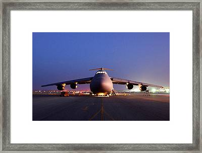 A U.s. Air Force C-5 Galaxy Aircraft Framed Print by Everett
