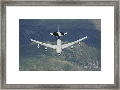 A U.s. Air Force E-3 Sentry Airborne Framed Print by Stocktrek Images