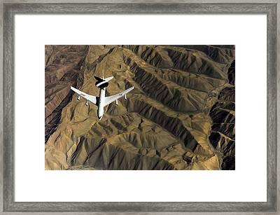A U.s. Air Force E-3 Sentry Aircraft Framed Print by Stocktrek Images