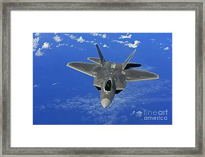 A U.s. Air Force F-22 Raptor In Flight Framed Print