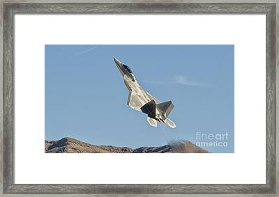 A U.s. Air Force F-22 Raptor Takes Framed Print by Giovanni Colla