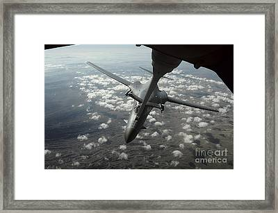 A U.s. Air Force Kc-10 Refuels A B-1b Framed Print