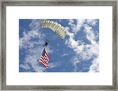 A U.s. Air Force Member Glides Framed Print
