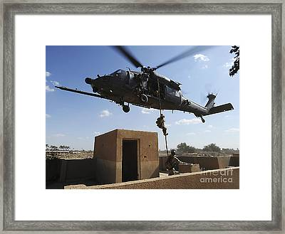 A U.s. Air Force Pararescuemen Fast Framed Print