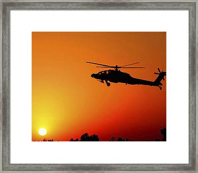 A U.s. Army A-64 Apache Helicopter Framed Print by Stocktrek Images