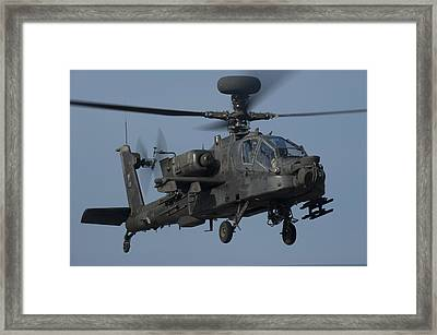 A U.s. Army Ah-64 Apache Helicopter Framed Print by Stocktrek Images