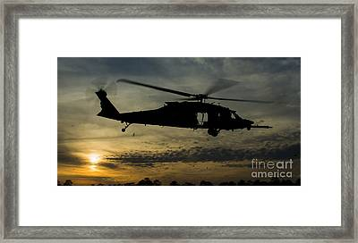 A U.s. Army Uh-60 Black Hawk Leaves Framed Print