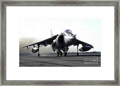 A U.s. Marine Corps Av-8b Harrier Framed Print by Stocktrek Images
