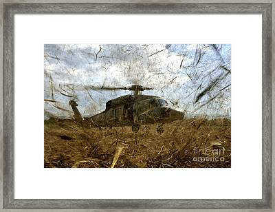 A U.s. Navy Hh-60 Seahawk Stirs Framed Print by Stocktrek Images