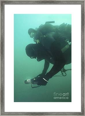 A U.s. Navy Seal Combat Swimmer Framed Print