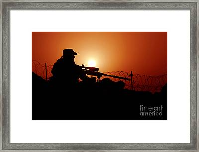 A U.s. Special Forces Soldier Armed Framed Print by Stocktrek Images