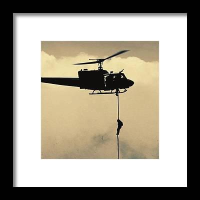 Helicopter Framed Prints