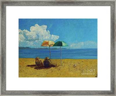 Framed Print featuring the painting A Vacant Lot - Byron Bay by Paul McKey
