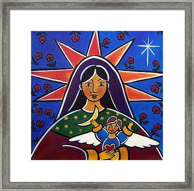 Framed Print featuring the painting A Valentine For Mary by Jan Oliver-Schultz