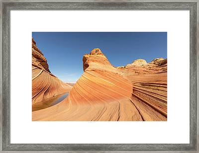 A Valley And The Wave Framed Print
