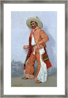 A Vaquero Framed Print by Frederic Remington