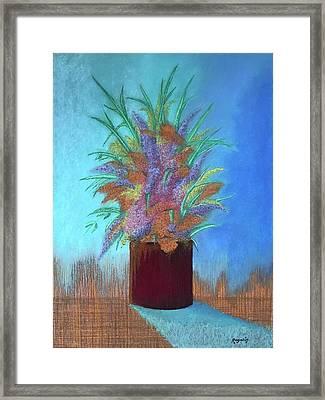 A Vase Of Flowers Framed Print by Harvey Rogosin
