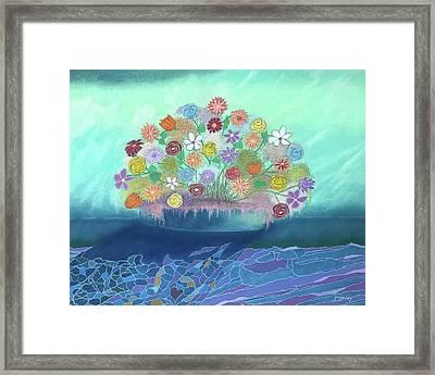 A Vase Of Flowers IIi Framed Print by Harvey Rogosin