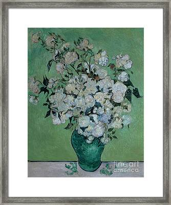 A Vase Of Roses Framed Print