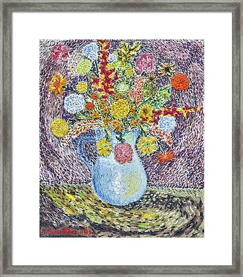 A Vase With Flowers Framed Print by Arnold Bernstein