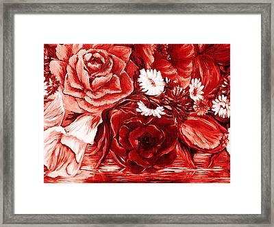 A Velvet Rose Framed Print by Katreen Queen