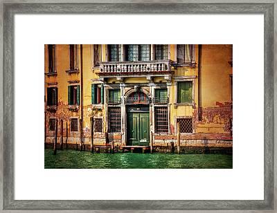 A Venetian Door  Framed Print