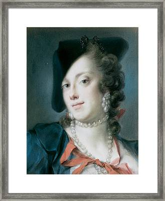 A Venetian Lady From The House Of Barbarigo Framed Print
