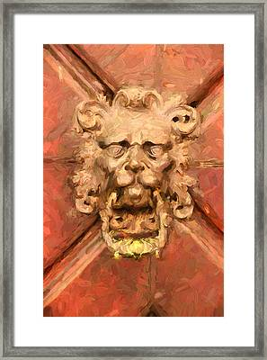 A Venetian Welcome Framed Print by Georgiana Romanovna