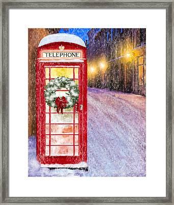 A Very British Christmas Framed Print