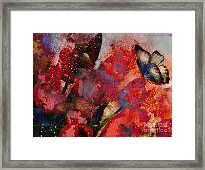 A Very Fairy Tale Of Two Butterflies In Pearlesque Framed Print