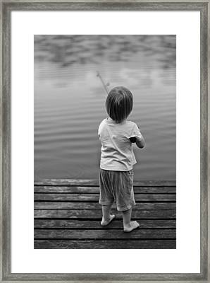 A Very First Fishing Framed Print by Deividas Kavoliunas