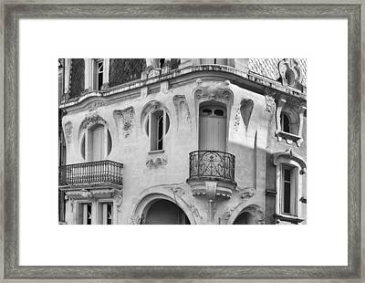 A Very French House Framed Print