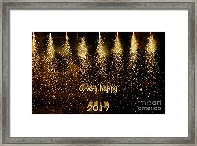 A Very Happy 2017 Framed Print