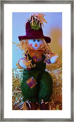 A Very Happy Pilgrim Framed Print