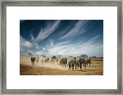 A Very Long Thinking Framed Print