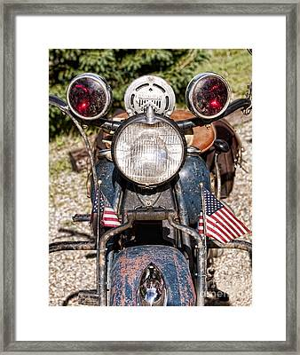 A Very Old Indian Harley-davidson Framed Print